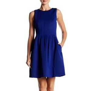Vince Camuto Pleated Fit and Flare Dress